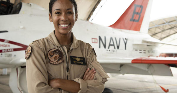 U.S. Navy's first Black female fighter pilot gets her Wings of Gold - CBS News