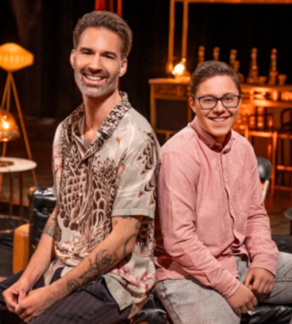 Jonas met 'zijn' artiest Sean Dhondt. De aflevering is gratis te bekijken op VTM GO.