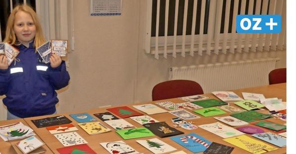 Bargeshagen: Jugendfeuerwehr bastelt Weihnachtskarten