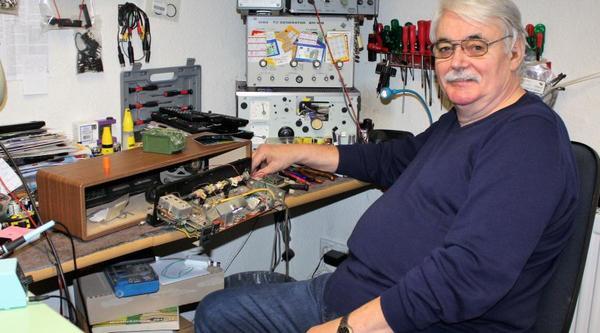 Klaus Richter in seiner Werkstatt Foto: Rainer Marten