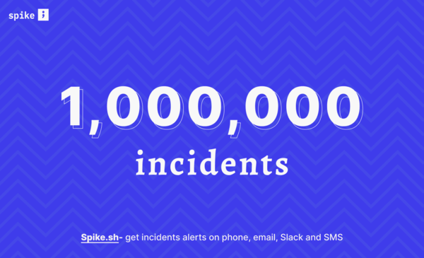 We have now alerted for over a million incidents, thanks to you !