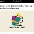 """What Day Is It?"" newsletter"