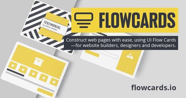 UI Flow Cards―for website builders, designers and developers