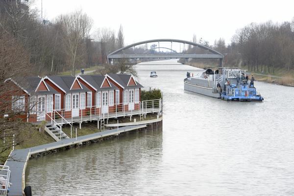 Der Lister Yachthafen mit den Schwedenhäusern. (Foto: Nancy Heusel)
