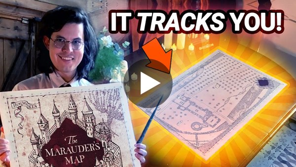 I Built a WORKING Marauder's Map! ⚡🗺️ - Harry Potter AR Special