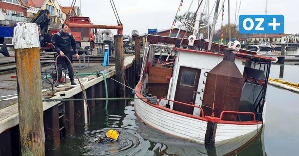"""Kutter """"Johanna"""" im Barther Hafen gesunken: So lief die Bergung"""