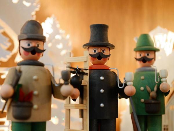 Klassische Weihnachtsfiguren - die Räuchermännchen. Foto: Pietro Sutera