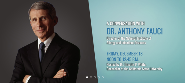 A Conversation with Dr. Anthony Fauci, hosted by Chancellor White