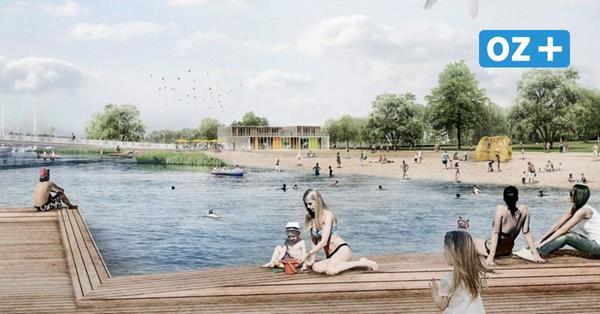 Eine Badewanne für Rostocks Innenstadt? Wo zur Buga ein neuer Strand entstehen soll