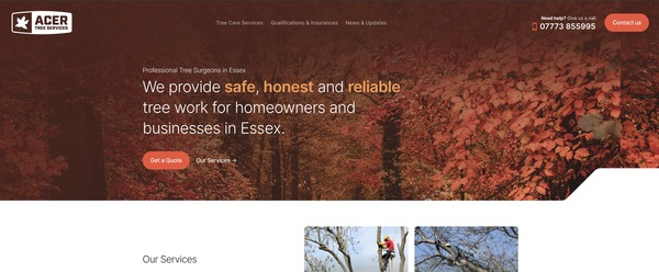 Acer Tree Services - Professional Tree Surgeons in Essex