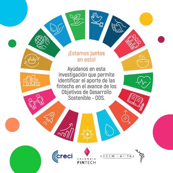 ¡Aviso importante! 💥 @Con_Creci y @AddemCapital trabajan en una investigación que permite identificar el aporte de las fintechs en el avance de los ODS 🔥