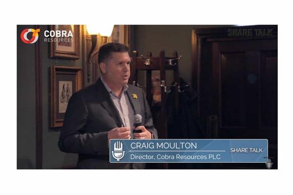 Craig Moulton, Director of Cobra Resources PLC (COBR.L) Interview