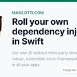 Roll Your Own Dependency Injection In Swift