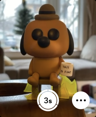 My new Funko Pop, as viewed through the Camera Remote app on Apple Watch