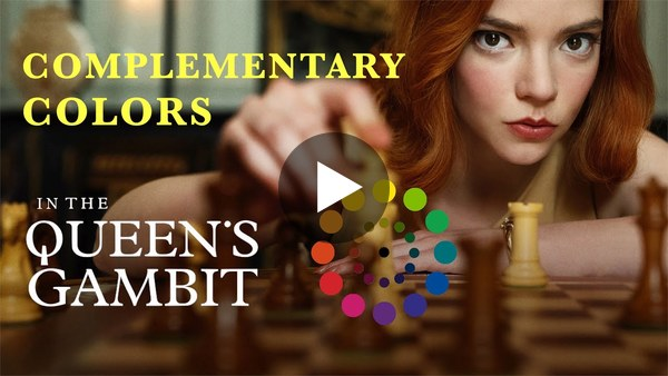 The Brilliant Use Of Complementary Colors In The Queen's Gambit