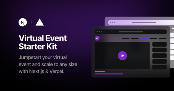 Vercel: virtual-event-starter-kit