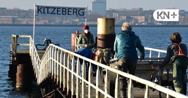 Dampferbrücke in Heikendorf eingestürzt