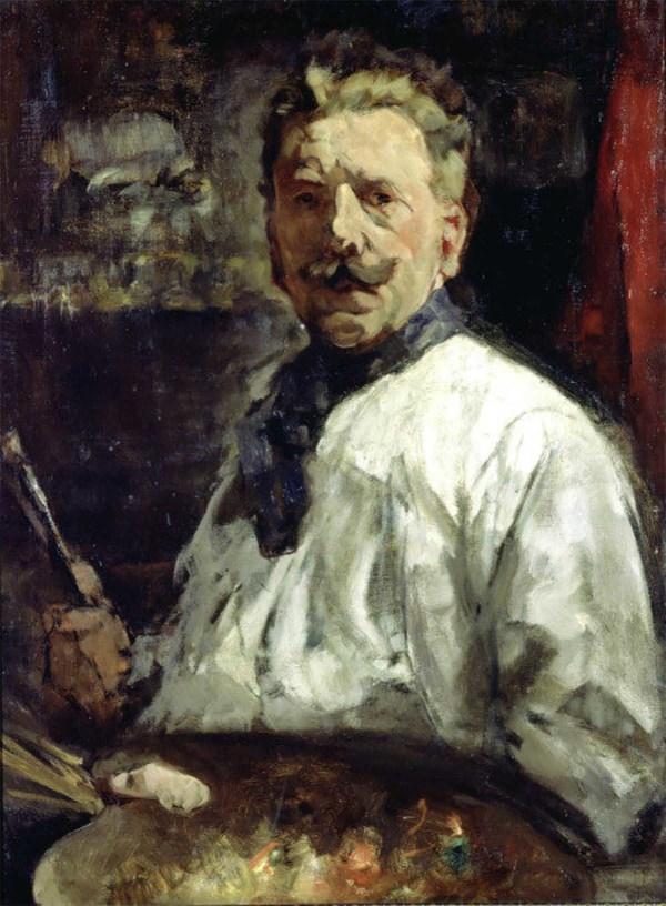 'Zelfportret' - olieverf op doek: Willem van der Nat (herkomst: coll. Museum De Lakenhal, Leiden