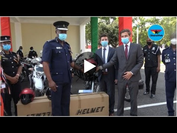 GIZ donates motorbikes, starter-sets to community unit of Ghana Police Service