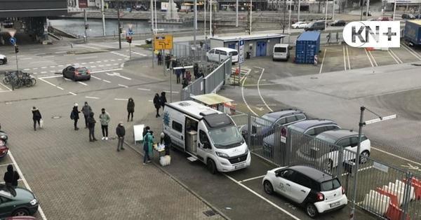 Schnelltest in Kiel: Ansturm auf Mobil am Schwedenkai