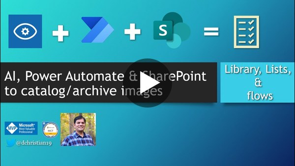 Use AI,  Power Automate and SharePoint To Catalog Images