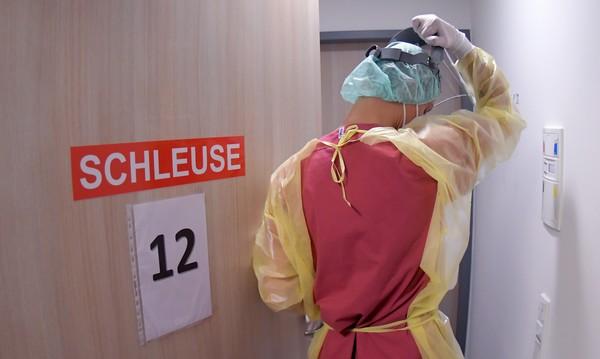 Auf der Intensivstation des Ernst-von-Bergmann-Klinikums. Foto: Bernd Gartenschläger