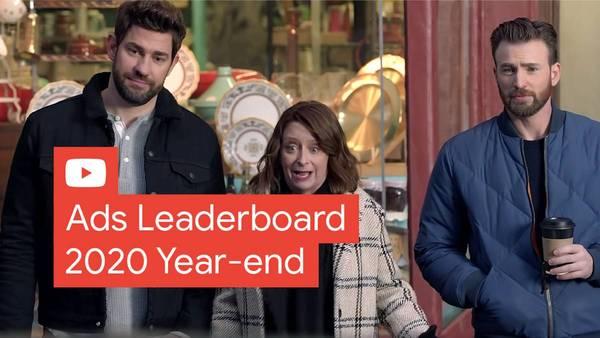 E os anúncios mais vistos no YouTube em 2020 são ..