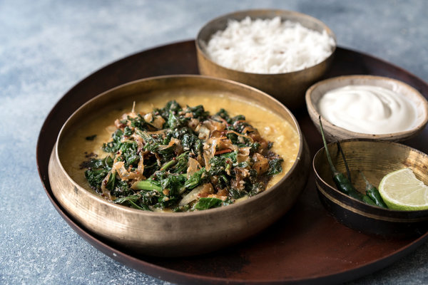 Sri Lankan Dal With Coconut and Lime Kale Recipe - NYT Cooking