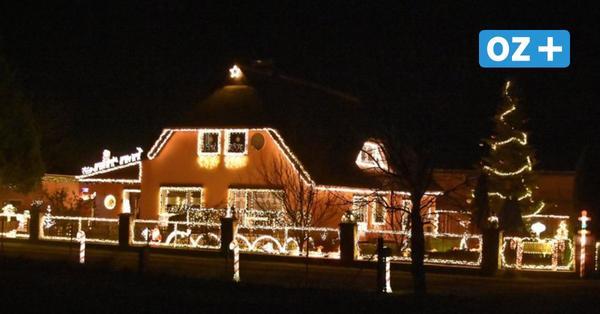 So schön leuchten die Häuser um Grimmen zur Weihnachtszeit