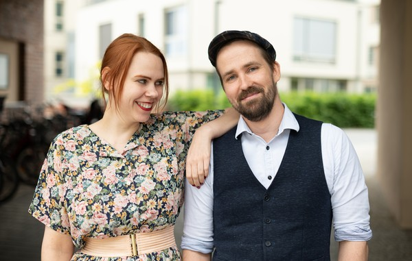 Maria Vaorin und Markus Konczak aus Potsdam sind Podcaster. Foto: Matthias Baumbach