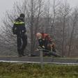 Dronken bestuurder rijdt lantaarpaal uit de grond