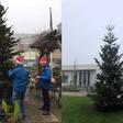 Rotaryclub plaatst kerstbomen bij zorginstellingen