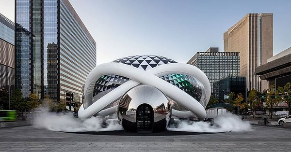 GBO's inflatable 'AIR cinema' featuring a robotic ride lands in South Korea | Design Boom