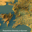 Population density in Europe