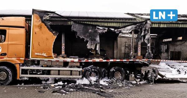 WZV: Halle und zwei Fahrzeuge bei Feuer am Montagmorgen zerstört