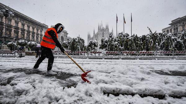Starke Schneefälle in Italien: Feuerwehrmann stirbt auf Sardinien