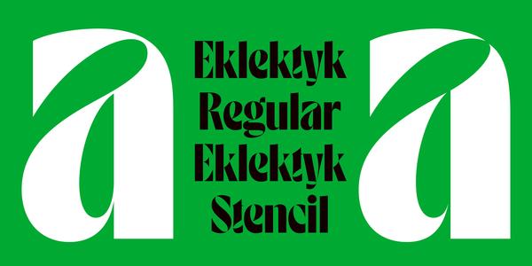 Eklektyk (Laïc: Type Foundry)