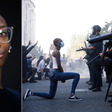 This powerful photo of her kneeling before San Jose riot police went viral. Now we know her story