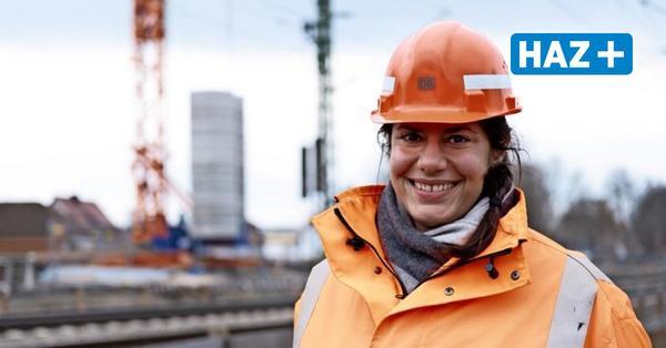 ... die Ingenieurin Daria Völlinger, die eine Großbaustelle der Bahn dirigiert