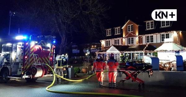 Strander Feuerwehr rückt zum Brandeinsatz im Strandhotel aus