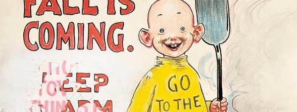 R.F. Outcault - Yellow Kid Original Comic Art