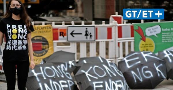 Studierende der Universität Göttingen machen auf Situation in Hongkong aufmerksam