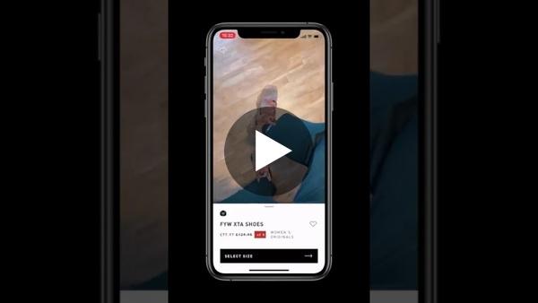 Adidas sneakers virtual (AR) try on in iOS app