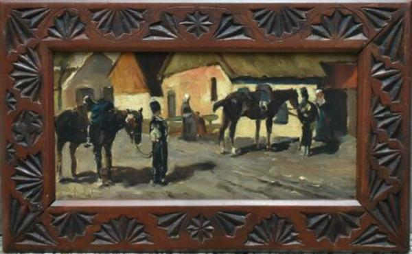 ≥ Louise Fritzlin naar Breitner cavalerie. - Kunst | Schilderijen | Klassiek - Marktplaats.nl