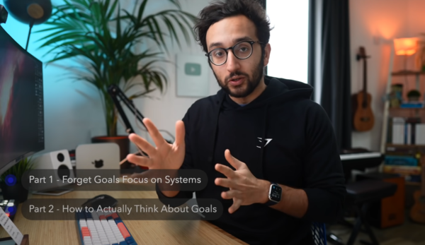 "Ali Abdaal video — ""I WAS WRONG - How I Set Goals for the New Year"""