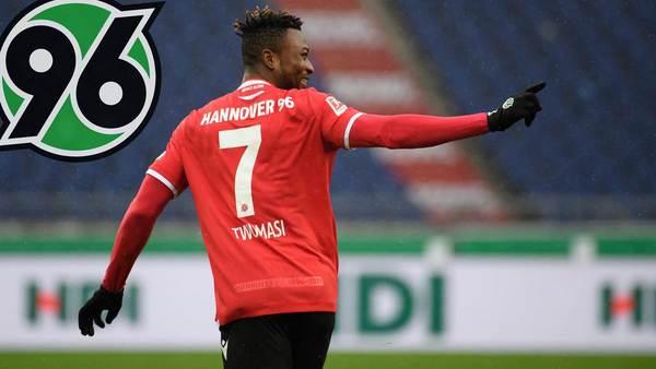 Liegestütze nach Tor-Debüt für Hannover 96: Stürmer Twumasi erklärt seinen Torjubel
