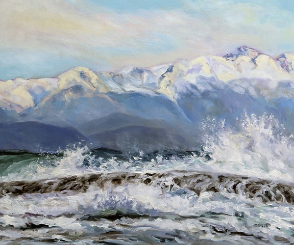 Rough Seas and Sunshine by Terrill Welch, oil on canvas, 20 x 24 inches - In Private Collection.