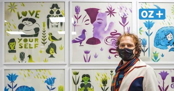 Wismar: Künstler Paetrick Schmidt zeigt skurrile Werke in Arztpraxis