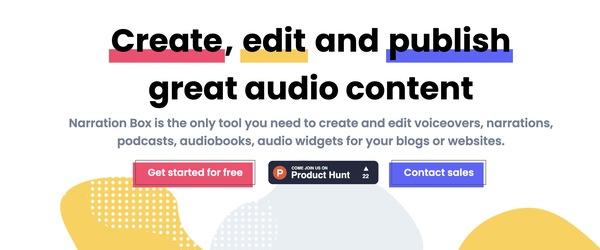 Create. Edit. Publish. | Narration Box