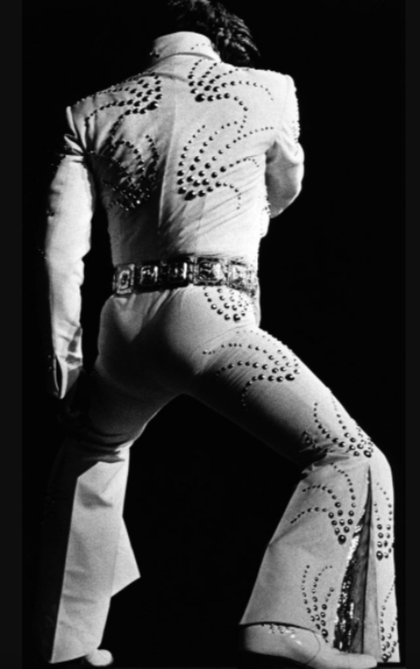 Elvis Presley was born Jan. 8, 1935. Here he is performing at the Chicago Stadium in 1972. | Jack Lenahan/Chicago Sun-Times.